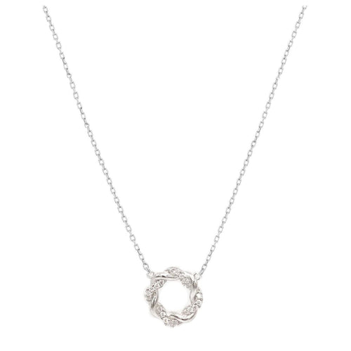 Open Twist Pendant Necklace - SLVR New York
