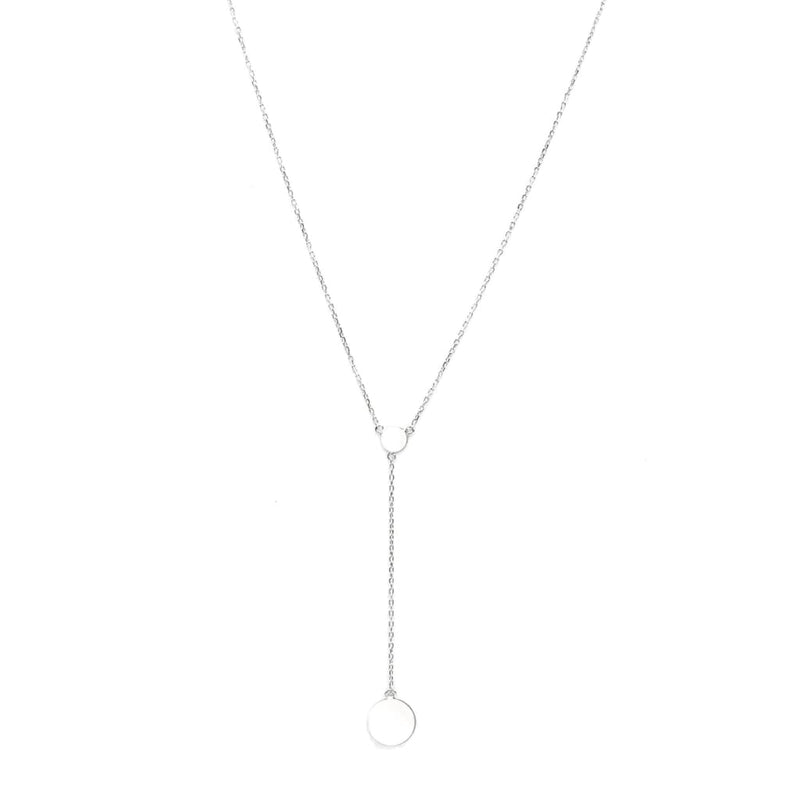 Round coin sterling silver necklace - SLVR New York Silver