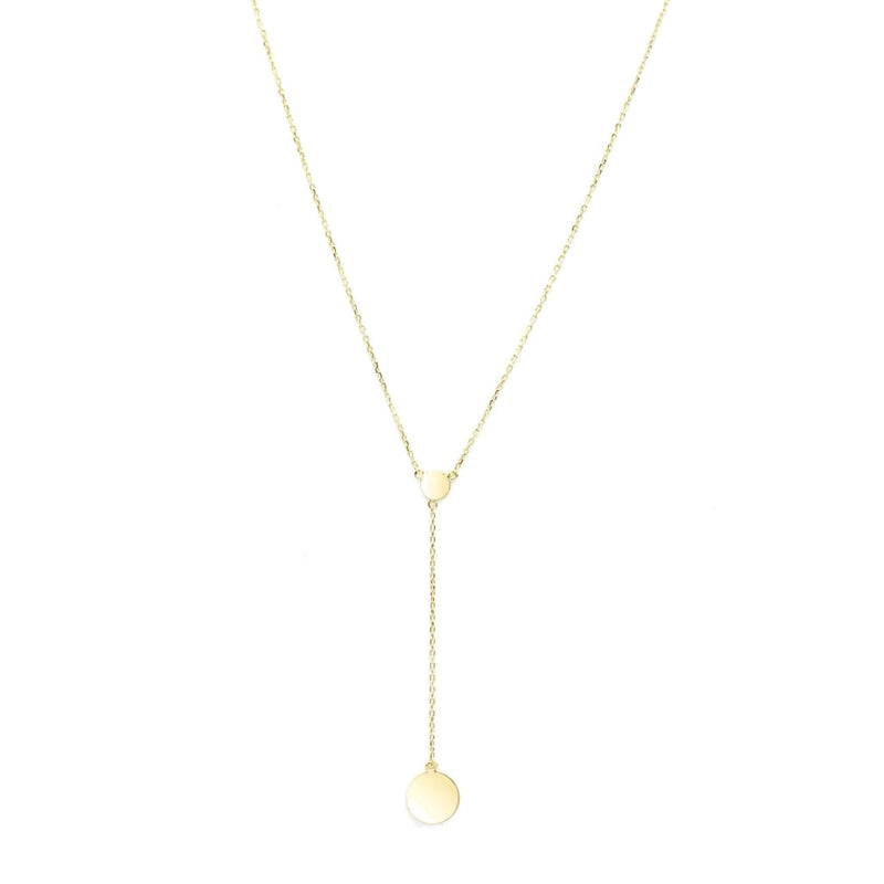 Round coin sterling silver necklace - SLVR New York Gold