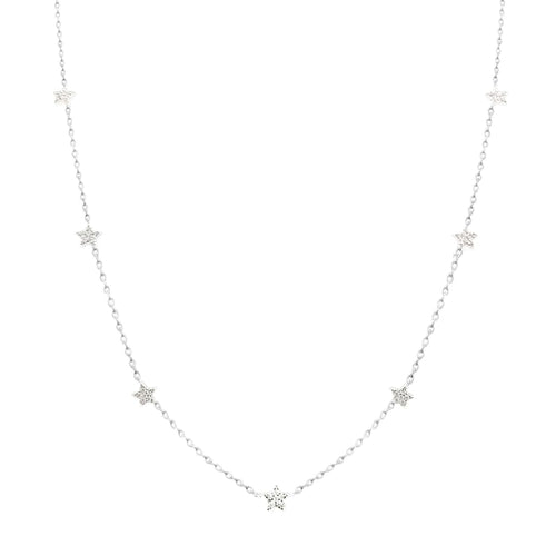 Stars Dainty Necklace with CZ - SLVR New York Silver