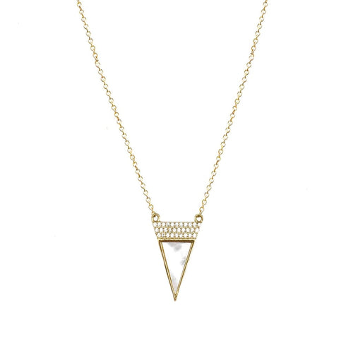 Triangle Necklace - SLVR New York Gold