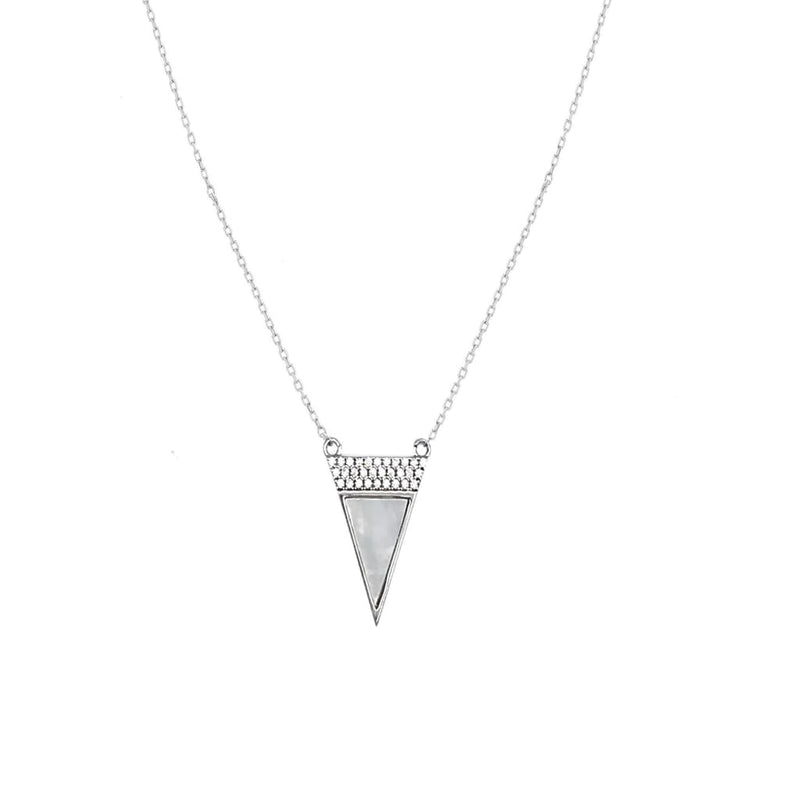 Triangle Necklace - SLVR New York Silver