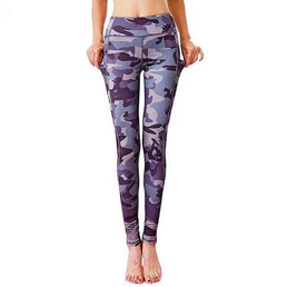 Leggings fashion, pantalon de yoga imprimé, collant de sport, gym, fitness, pilâtes, running, motif camouflage