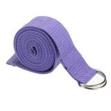 Sangle de yoga fitness gym, ceinture de yoga, sangle d'étirement violette