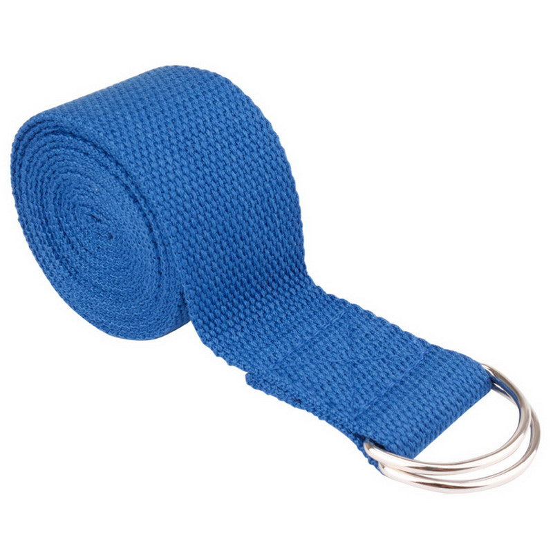 Sangle de yoga fitness gym, ceinture de yoga, sangle d'étirement bleu roi