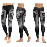 Leggings tête de mort et ornements cartes