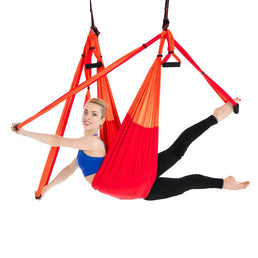 hamac de yoga orange et rouge
