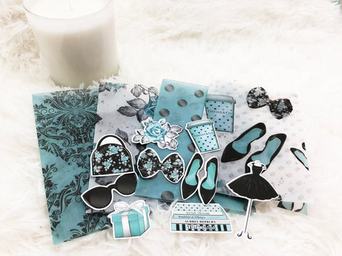 Breakfast at Tiffany - Inspired Vellum Dashboard and Die Cut Set