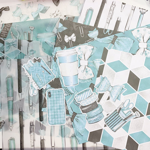 My Plans in Teal Decorative Kit