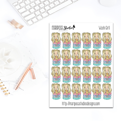 Washi Girl - Planner Stickers