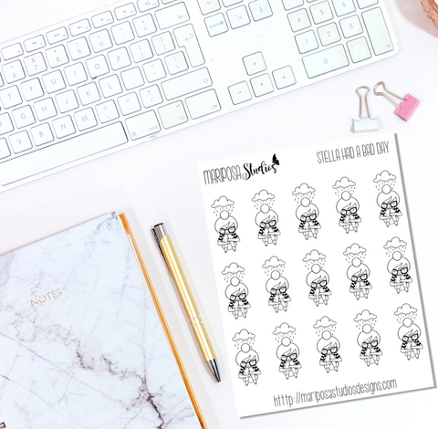 Stella Had a Bad Day - Planner Stickers