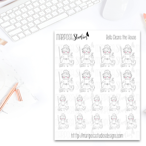 Bella Cleans the House - Planner Stickers