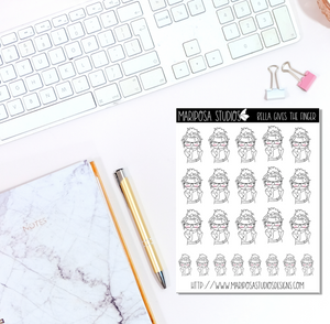 Bella Gives the Finger - Planner Stickers
