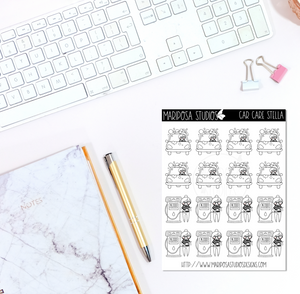 Car Care Stella | Planner Stickers