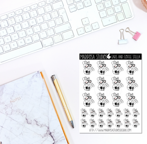 Ears and Coffee Stella | Planner Stickers