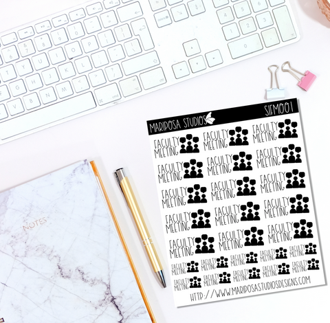 Faculty Meeting | Icons - Planner Stickers