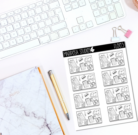 Budgeting Flat Lay | FL003 - Planner Stickers