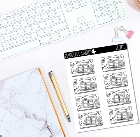 Planning Flat Lay | FL006 - Planner Stickers