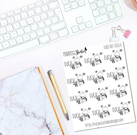 F*ck Off Stella - Planner Stickers