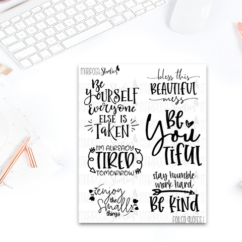 Foiled Quotes 1 - Planner Stickers