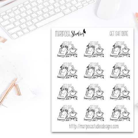 Get Shit Done - Planner Stickers