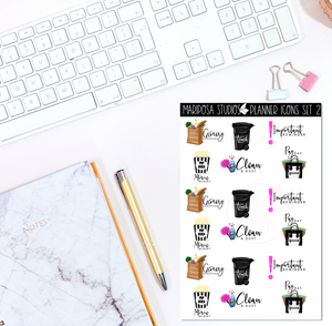 Planner Icons | Set 2 | Functional Icons - Planner Stickers