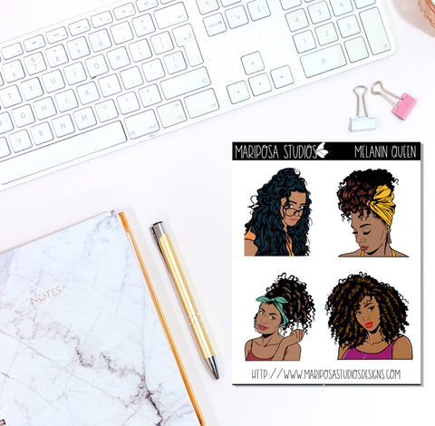 Melanin Queen - Planner Stickers