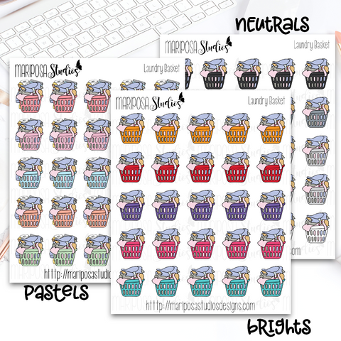 Laundry Basket (NO TEXT) - Planner Stickers