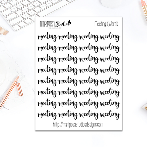 Meeting (Word) - Planner Stickers