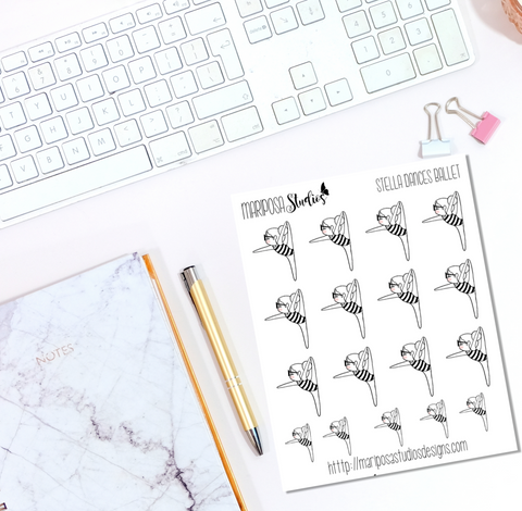 Stella Dances Ballet - Planner Stickers