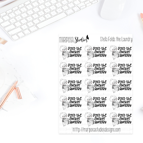 Stella Folds the Laundry - Planner Stickers