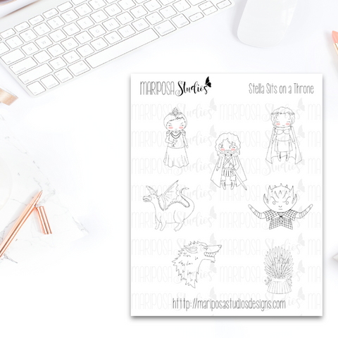 Stella Sits on A Throne - Planner Stickers