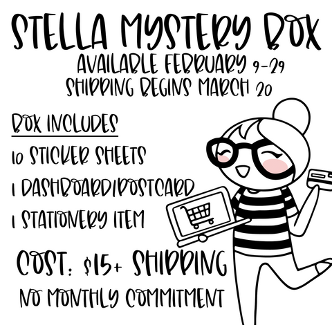 Stella Mystery Box (MARCH) - Planner Stickers