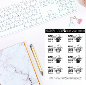 Stella Works Remotely | Planner Stickers