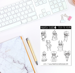 Stella the Villain | Planner Stickers