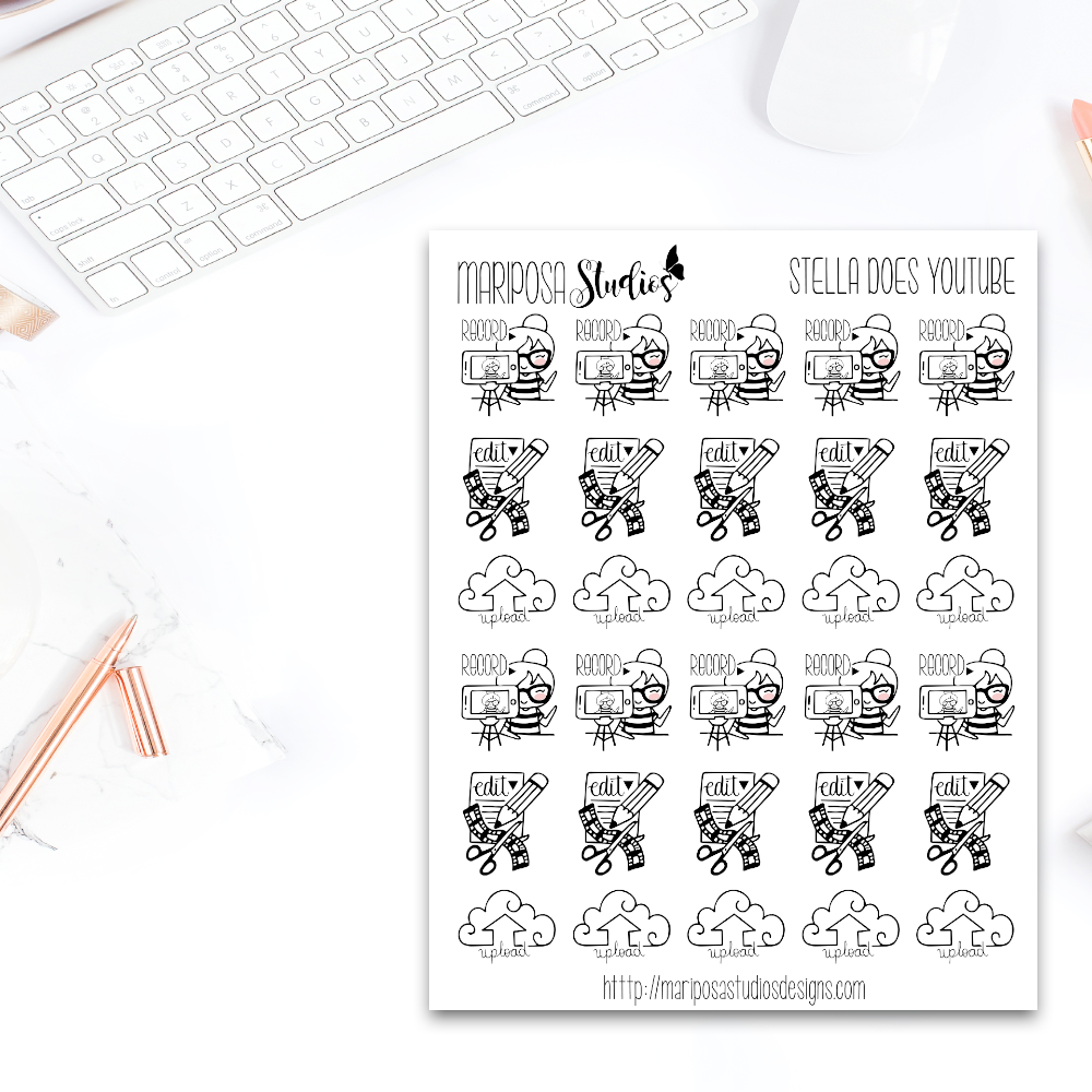 Stella Does YouTube - Planner Stickers