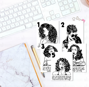 Strong Woman 1-5 | Planner Dashboard | CARDSTOCK