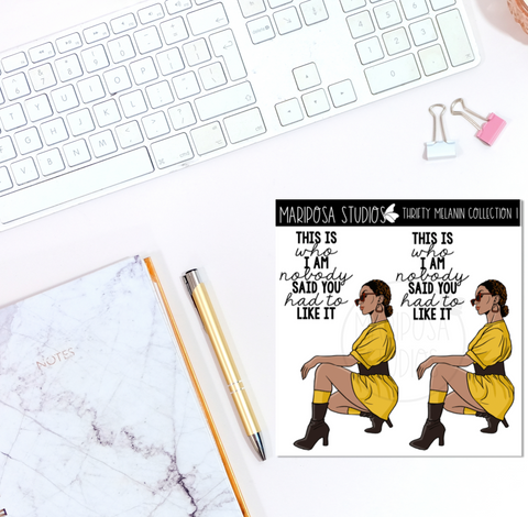 Thrifty Melanin Collection 1 | Planner Stickers | Mini Sticker Album