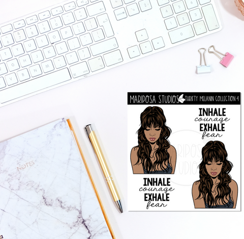 Thrifty Melanin Collection 4 | Planner Stickers | Mini Sticker Album