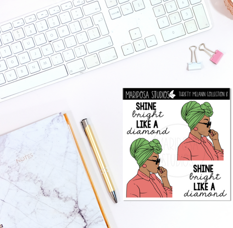 Thrifty Melanin Collection 8 | Planner Stickers | Mini Sticker Album