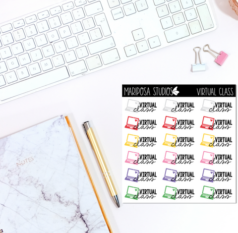 Virtual Class | Planner Stickers | Mini Sticker Album