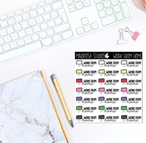 Work From Home | Planner Stickers | Mini Sticker Album