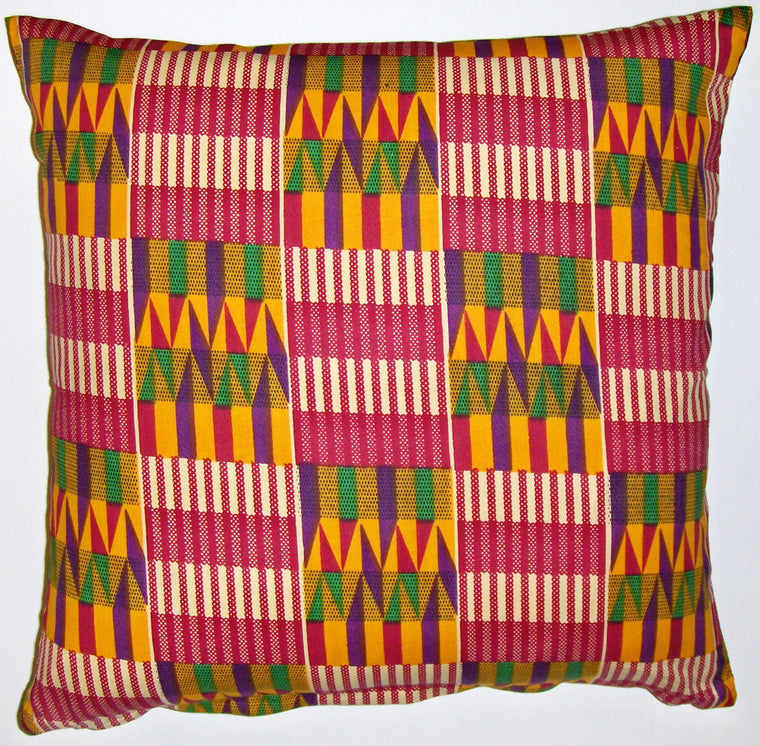 AW20 Untreated cotton African wax print pillow cover