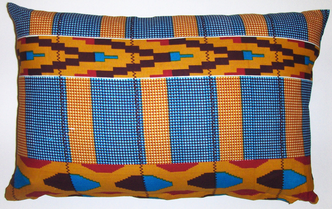 AW21 Untreated cotton African wax print pillow cover