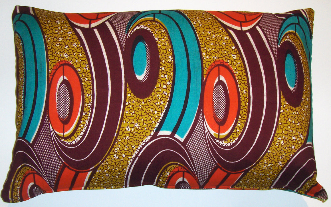 AW22 Untreated cotton African wax print pillow cover