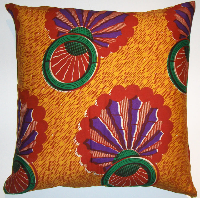 AW23 Untreated cotton African wax print pillow cover