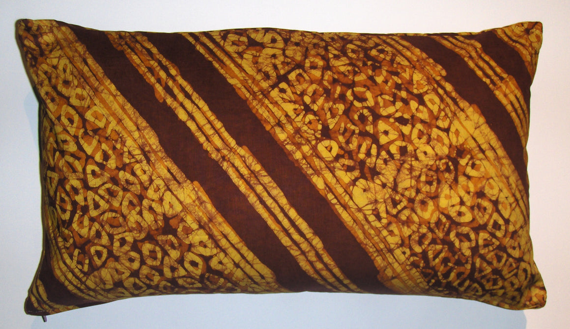 BTK12 Crackle batik untreated cotton pillow cover