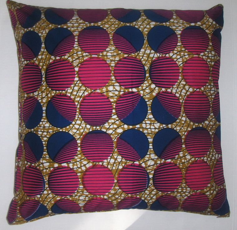 DW014 Dutch wax printed cotton pillow cover