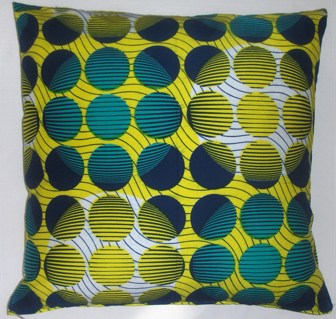 DW015 Dutch wax printed cotton pillow cover