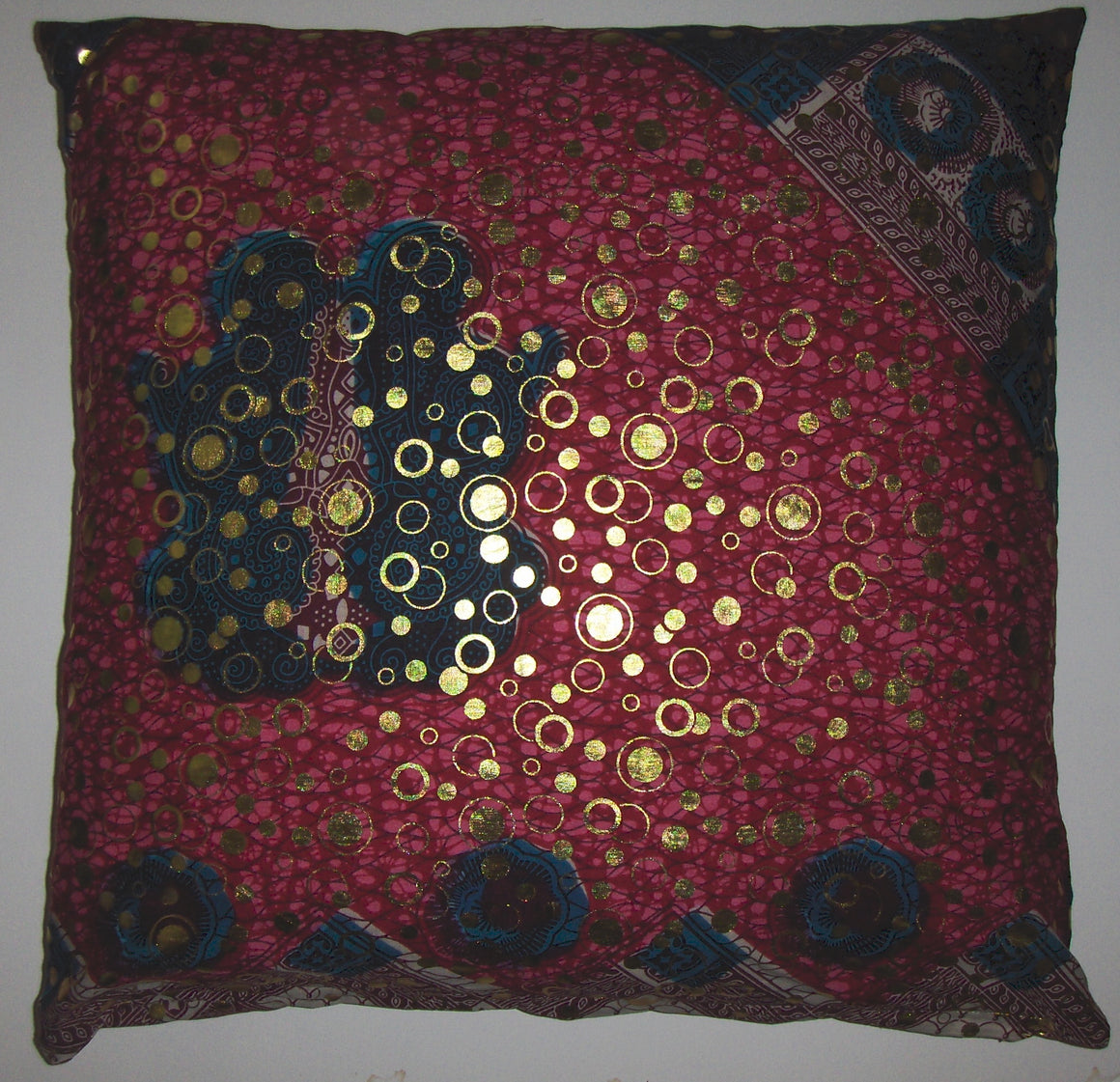 DW13 Dutch wax printed cotton pillow cover